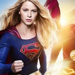 Supergirl And The Flash Crossover Poster