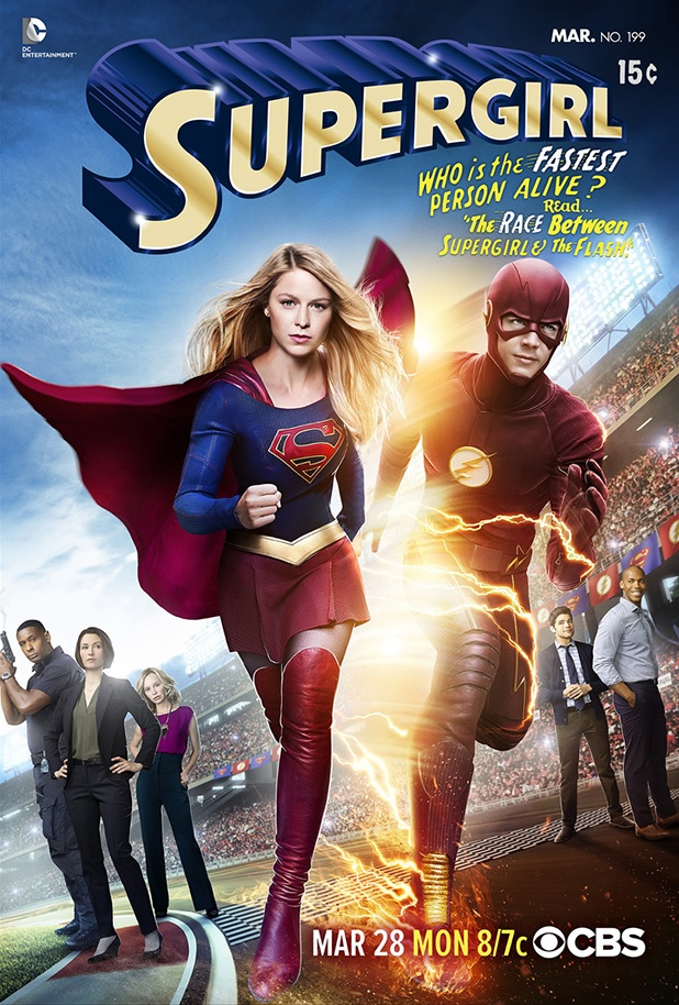 The Flash Supergirl Crossover Photo